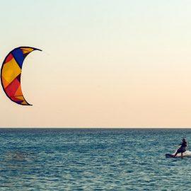 Ejercicio durante las vacaciones kitesurf